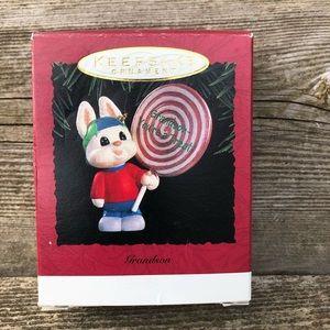 Hallmark Keepsake Ornament Grandson 1995 Rabbit